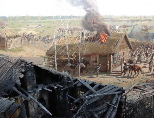 "Рубо Ф. А. Фрагмент панорамы ""Бородинская битва"""