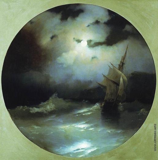 Айвазовский И. К. Море в лунную ночь