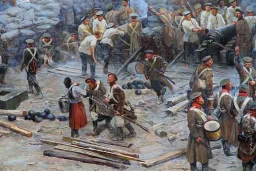 "Рубо Ф. А. Фрагмент панорамы ""Оборона Севастополя"""
