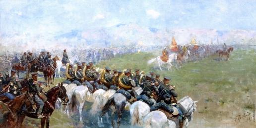 Рубо Ф. А. Смотр войск Александром III