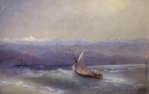 Айвазовский И. К. Море на фоне гор