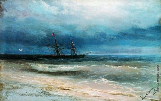 Айвазовский И. К. Море с кораблем