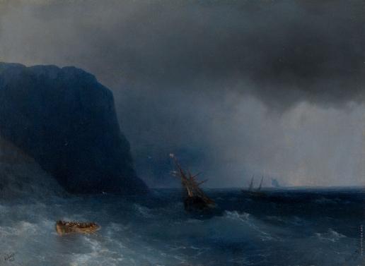 Айвазовский И. К. Спасшиеся после кораблекрушения