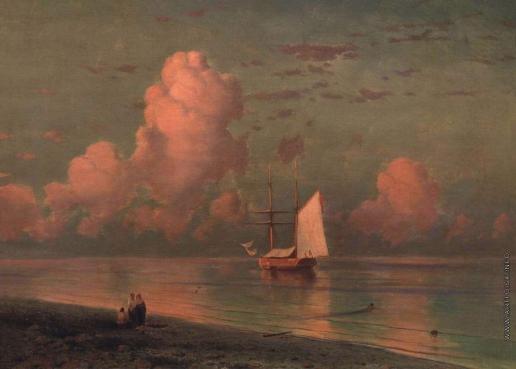 Айвазовский И. К. Море с розовым облаком