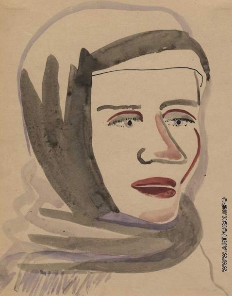 Софронова А. Ф. Женщина в платке