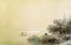 Айвазовский И. К. Море у скалистого берега