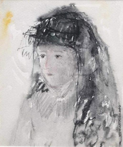 Софронова А. Ф. Женский портрет с вуалью