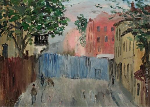 Софронова А. Ф. Розовый дом, голубой забор