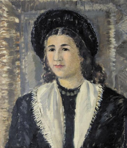 Софронова А. Ф. Портрет женщины в черной шляпе