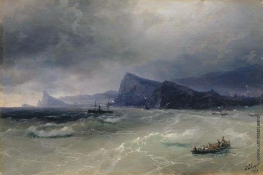 Айвазовский И. К. Море. Скалы