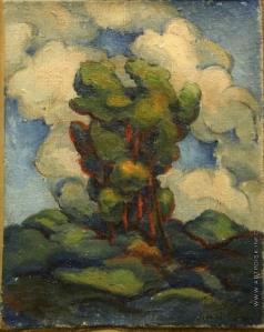 Баранов-Россинэ В. Д. Пейзаж с деревом на фоне облаков