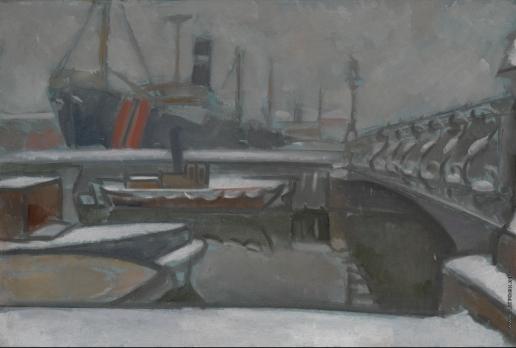 Баранов-Россинэ В. Д. Зима в Санкт-Петербурге