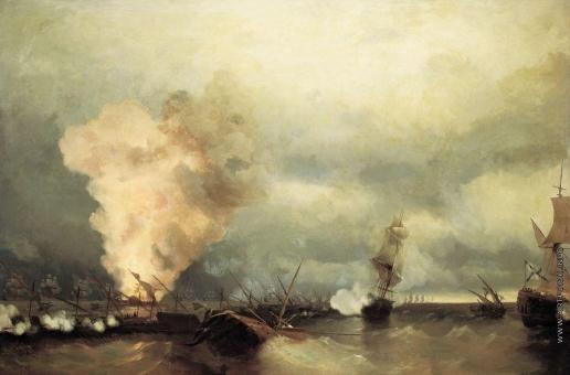Айвазовский И. К. Морское сражение при Выборге 29 июня 1790 года
