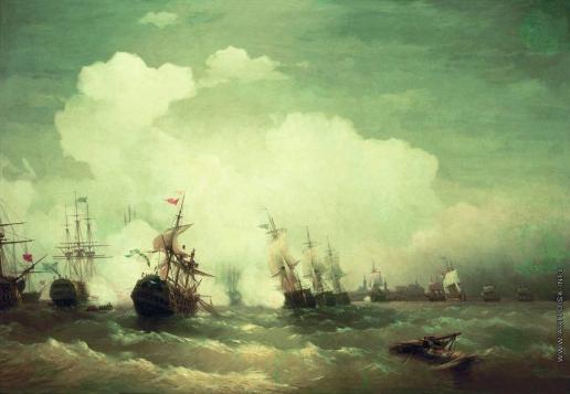 Айвазовский И. К. Морское сражение при Ревеле 2 мая 1790 года