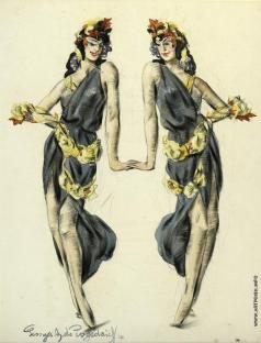 Пожедаев Г. А. Две танцовщицы Айседоры Дункан