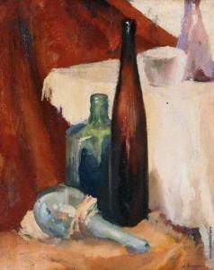 Осмеркин А. А. Натюрморт с бутылками
