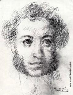 Шаляпин Б. Ф. Портрет Пушкина