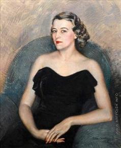Шаляпин Б. Ф. Портрет светской дамы