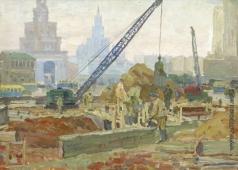 Григорьев Н. М. Москва строится. Комсомольская