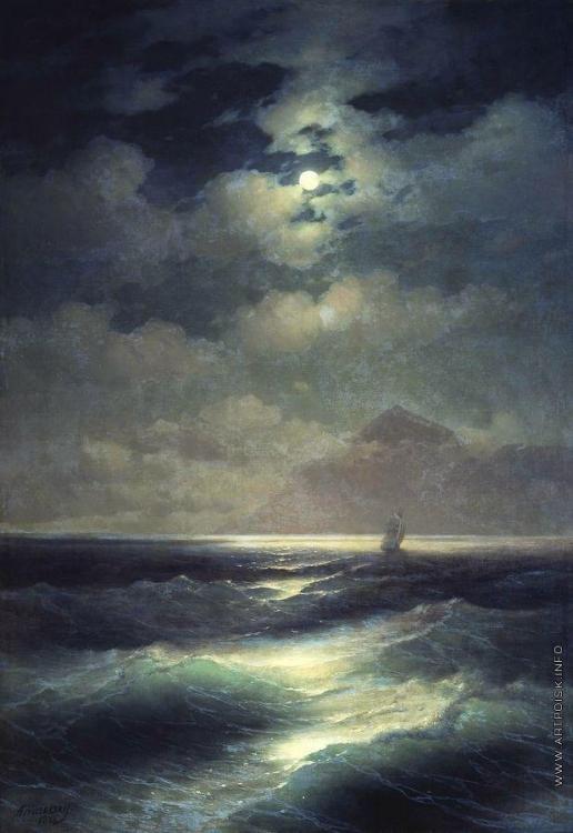 Айвазовский И. К. Морской вид при луне