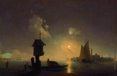 Айвазовский И. К. Морской вид с часовней на берегу