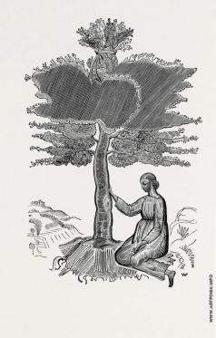 Фаворский В. А. Руфь под деревом. Иллюстрация к ветхозаветной «Книге Руфь»
