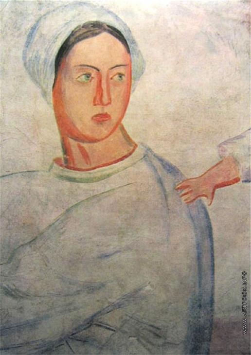 Фаворский В. А. Фрагмент утраченной фрески в Музее охраны материнства и младенчества