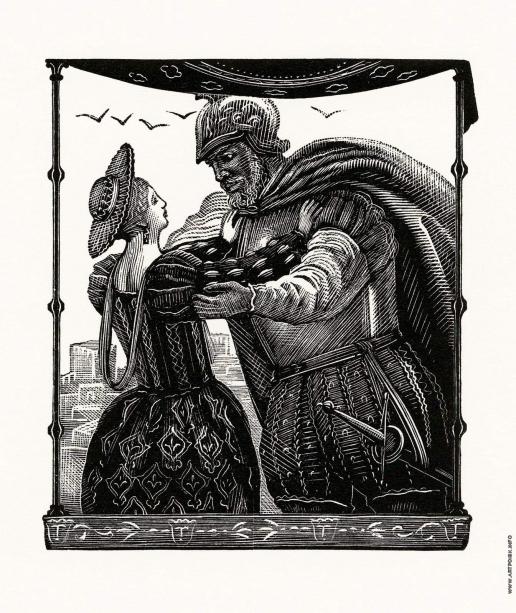 """Фаворский В. А. Иллюстрация к трагедии У. Шекспира """"Отелло"""""""
