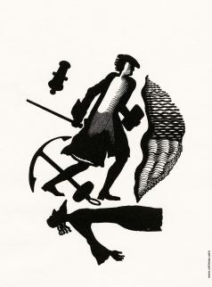Фаворский В. А. Иллюстрация к произведению Б. Пильняка «Его величество Kneeb Piter»