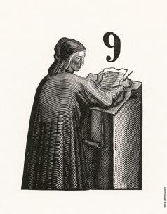 "Фаворский В. А. Портрет Данте. Фронтиспис к произведению Данте ""Vita Nova"""