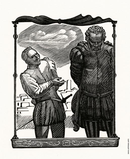 """Фаворский В. А. Иллюстрация к трагедии У. Шекспира """"Отелло"""". 2-й акт"""