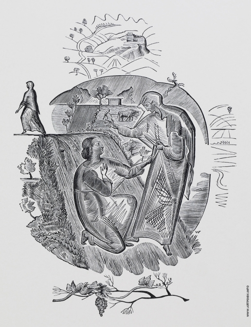"""Фаворский В. А. Иллюстрация к """"Книге Руфь"""""""