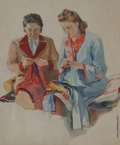 Яблонская Т. Н. За вязанием
