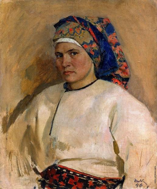 Яблонская Т. Н. Автопортрет в украинском костюме