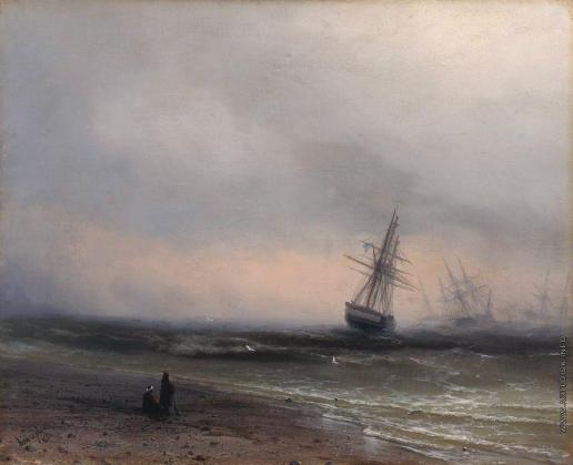 Айвазовский И. К. Морской пейзаж в Крыму