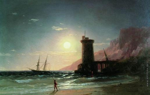 Айвазовский И. К. Морской пейзаж при луне
