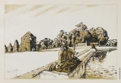 "Бенуа А. Н. Скульптура в пруда. Из альбома ""Версаль"""