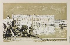 "Бенуа А. Н. Вид на дворец. Из альбома ""Версаль"""