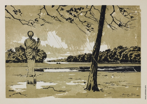 """Бенуа А. Н. Фонтан Аполлона. Осенний день. Из альбома """"Версаль"""""""