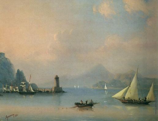 Айвазовский И. К. Морской пролив с маяком