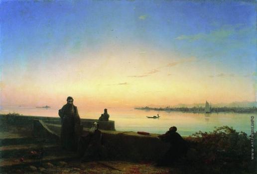 Айвазовский И. К. Мхитаристы на острове св. Лазаря. Венеция