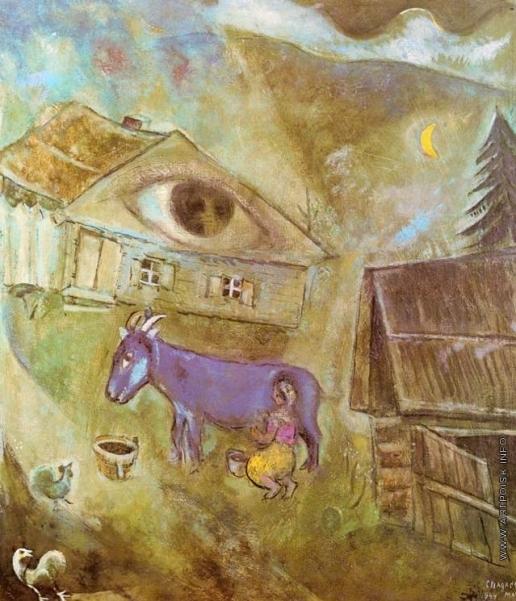Шагал М. З. Дом с зеленым глазом