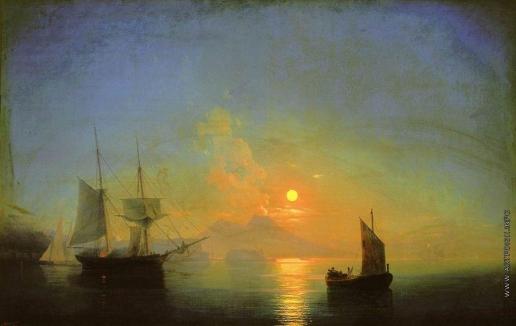 Айвазовский И. К. Неаплитанский залив в лунную ночь