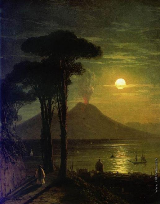 Айвазовский И. К. Неаполитанский залив в лунную ночь. Везувий