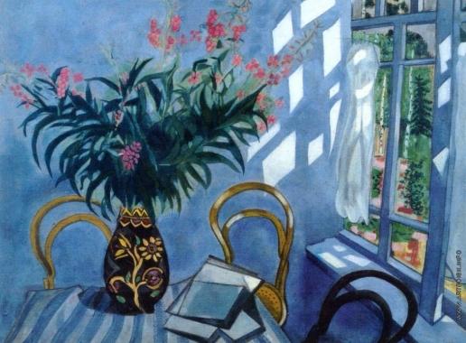 Шагал М. З. Интерьер с цветами