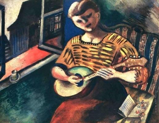 Шагал М. З. Лиза с мандолиной
