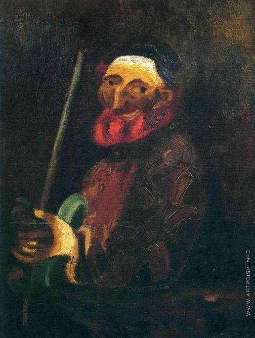 Шагал М. З. Музыкант со скрипкой
