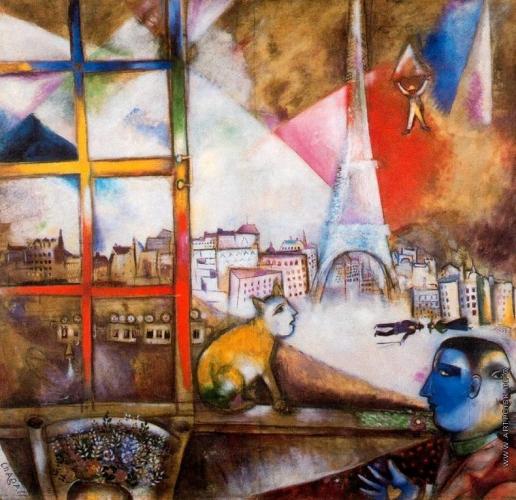 Шагал М. З. Париж через окно