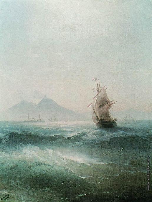 Айвазовский И. К. Неаполитанский залив. Вид Везувия