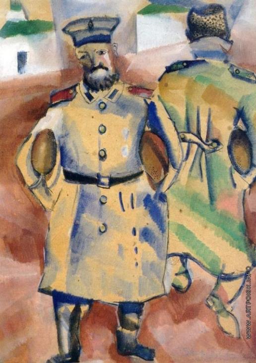Шагал М. З. Солдаты с хлебом